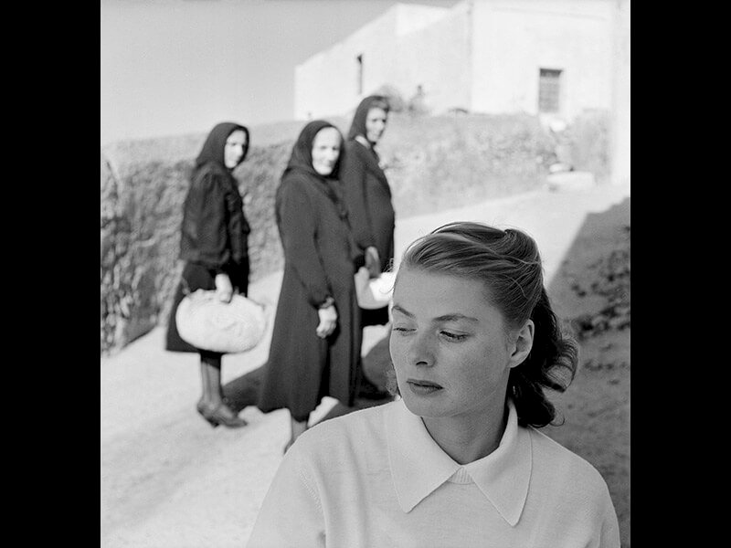 Ingrid Bergman at Stromboli, Stromboli, Italy, 1949 - Photograph by Gordon Parks ©The Gordon Parks Foundation