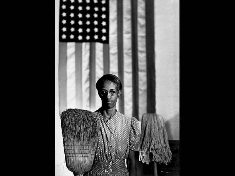 American Gothic, Washington, D.C., 1942 - Photograph by Gordon Parks ©The Gordon Parks Foundation