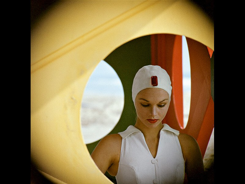 Jeweled Cap, Malibu, California, 1958 - Photograph by Gordon Parks ©The Gordon Parks Foundation
