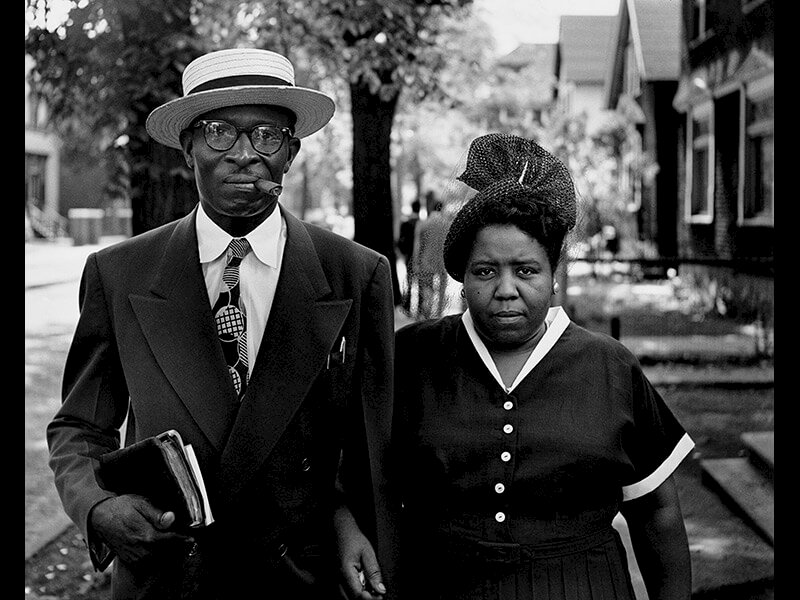 Husband and Wife, Sunday Morning, Detroit, Michigan, 1950 - Photograph by Gordon Parks ©The Gordon Parks Foundation