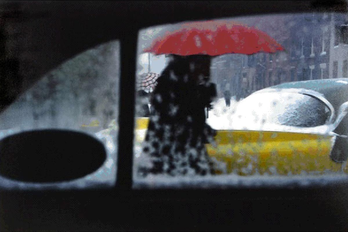 Saul Leiter, The Red Umbrella, New York City, 1959, © The Saul Leiter Foundation 2018/2019